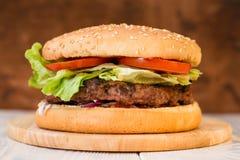 classic burger close-up royalty free stock photo