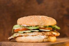 classic burger close-up stock image