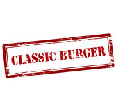 Classic burger. Rubber stamp with text classic burger inside,  illustration Royalty Free Stock Photos