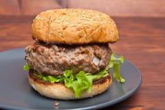 Classic Burger Stock Image