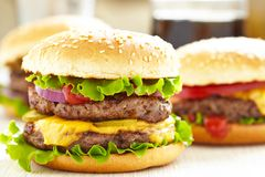 Classic Burgers Stock Images