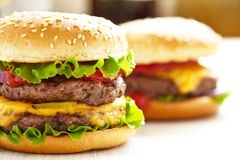 Classic Burgers Stock Photo