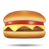 Classic Burgers on white background Stock Images