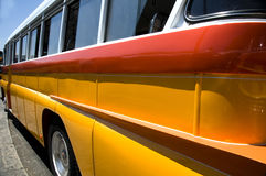 Classic bus malta europe. Classic bus colors malta europe mediterranean country Royalty Free Stock Photos