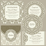 Classic business cards or invitations set Royalty Free Stock Image