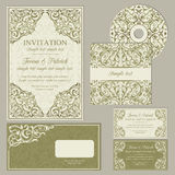 Classic business cards or invitations set Stock Photos