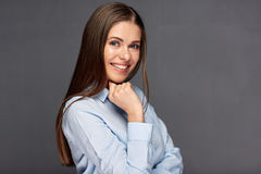 Classic business portrait of smiling woman. Royalty Free Stock Photo