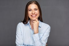 Classic business portrait of smiling woman. Stock Photo