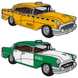 Classic cabs Stock Image