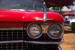 Classic Cadillac Convertible Headlight Royalty Free Stock Photography