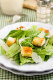 Classic Caesar salad. With parmesan cheese and croutons Royalty Free Stock Photos