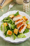 Classic Caesar salad. With parmesan cheese, croutons and grilled chicken Stock Images