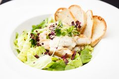 Classic Caesar salad Stock Photo