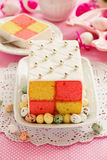Classic cake biscuit Battenberg Stock Images