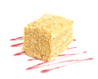 Classic Cake Napoleon Royalty Free Stock Photos