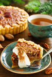 Classic cake with pecans Stock Images