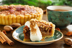 Classic cake with pecans Stock Photography