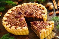 Classic Cake With Pecans Royalty Free Stock Images