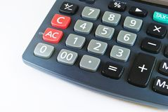 Classic calculator closeup detail Stock Photos