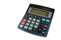 Classic calculator isolated Stock Photo