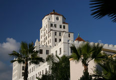 Classic California Architecture. A building in downtown Long Beach, California Royalty Free Stock Photo