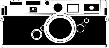 Classic Camera Vector. Classic Film Old Camera Vector Royalty Free Stock Photo