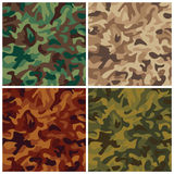 Classic Camouflage. A classic seamless camouflage pattern in four military colorways. Repeat size is 6 Stock Photos