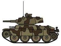 Classic camouflaged light tank Royalty Free Stock Image