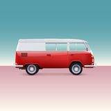Classic camper van Royalty Free Stock Photography