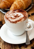 Classic Cappuccino Coffee Cup Royalty Free Stock Photo