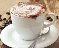 Classic Cappuccino Coffee Cup Royalty Free Stock Photos