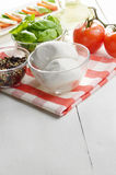 Classic caprese ingredients Royalty Free Stock Photos