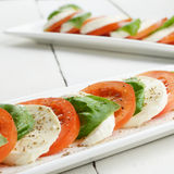 Classic caprese with mozzarella Royalty Free Stock Images