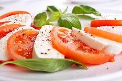 Classic caprese salad stock photography