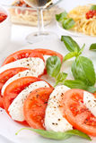 Classic caprese salad Stock Photos