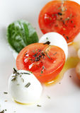 Classic Caprese salad, close up Stock Images