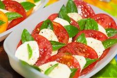 Classic caprese salad Stock Images