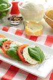 Classic caprese salad Stock Photography