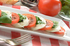 Classic caprese salad Royalty Free Stock Photos