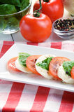 Classic caprese salad Stock Photos
