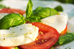 Classic Caprese Salad Stock Photo