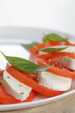 Classic caprese salad on plate close up Royalty Free Stock Images