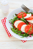 Classic caprese salad on a plate Royalty Free Stock Image