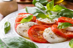 Classic Caprese Salad Stock Photo
