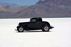 Classic Car. An old classic car on the Bonneville Salt Flats Royalty Free Stock Image