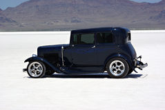 Classic Car. An old classic car on the Bonneville Salt Flats Royalty Free Stock Images
