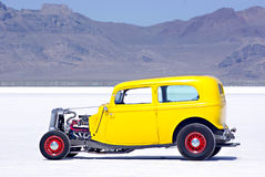 Classic Car. An old classic car on the Bonneville Salt Flats Royalty Free Stock Photography