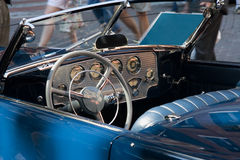Classic Car. Interior of convertible classic vehicle stock photo