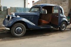 Classic mercedes. Classic car with open door Stock Image