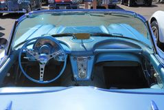 Classic Car: 1958 Chevy Corvette - Dashboard Stock Photo